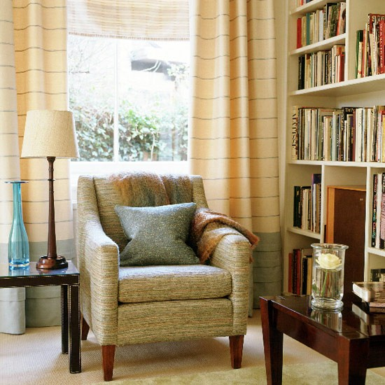 Living room with subtle colours textured fabrics and - Contemporary chairs for living room uk ...