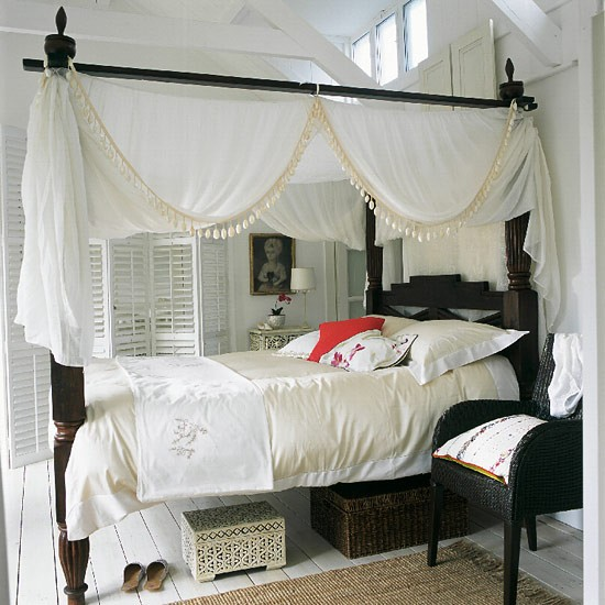 Indonesian bedroom | Four poster bed | Image | Housetohome.co.uk
