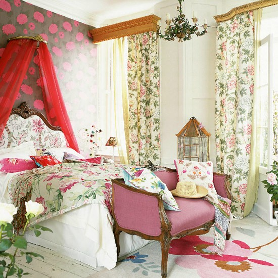French-style floral bedroom | Bedroom furniture | Decorating ideas | Image | Housetohome