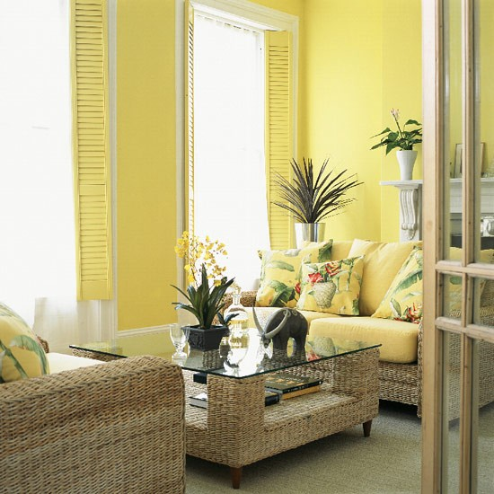 Yellow living room decorating ideas for Yellow living room ideas
