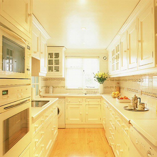 White Galley Kitchen Kitchen Design Decorating Ideas Housetohome