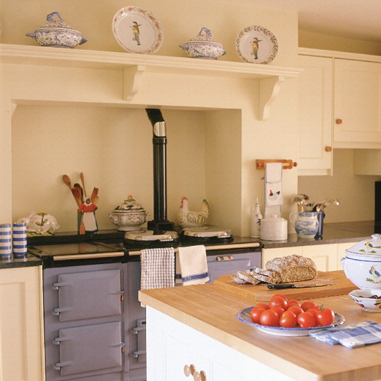 Traditional Kitchen With Blue Aga
