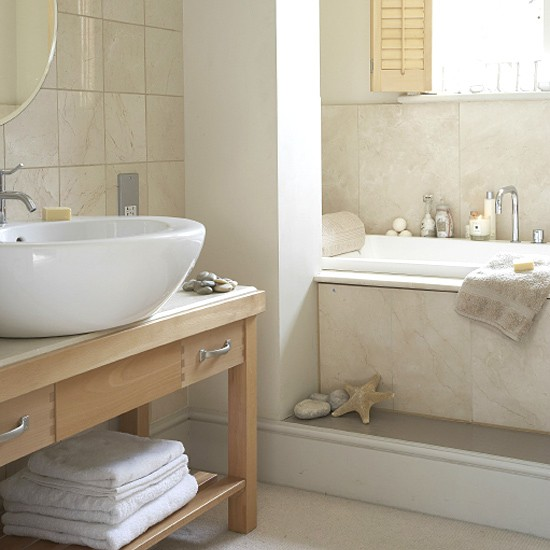 Neutral Bathroom With Circular Basin