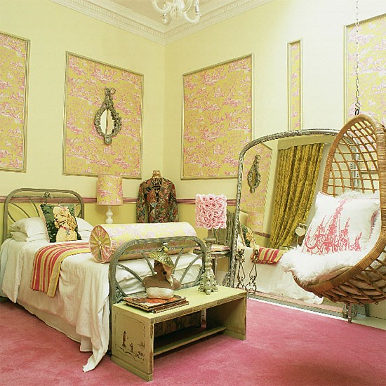 Pink Eclectic Bedroom