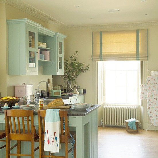 Country kitchen with soft blue wooden units | Country kitchens | kitchens | decorating | Housetohome.co.uk