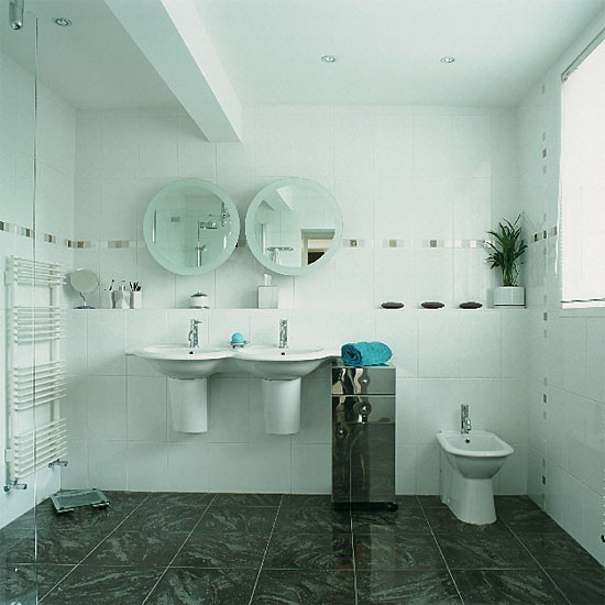 White contemporary bathroom