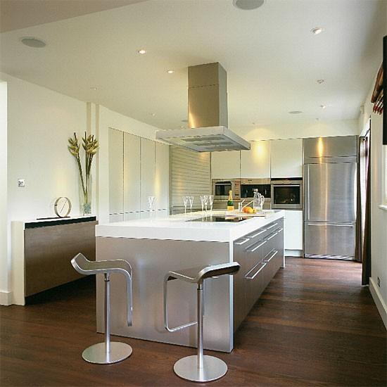 Contemporary steel kitchen   Kitchen design   Decorating ideas   Image   Housetohome
