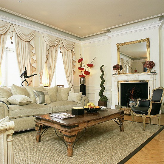 Neutral traditional living room | Living room furniture | Image | Housetohome