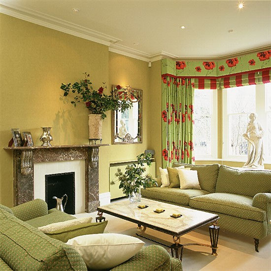 Lime green living room living room furniture for Green living room ideas