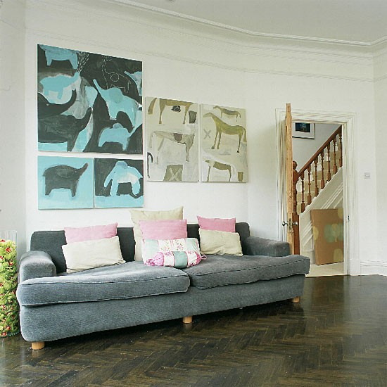 Arty living room | Decorating ideas | Image | Housetohome.co.uk