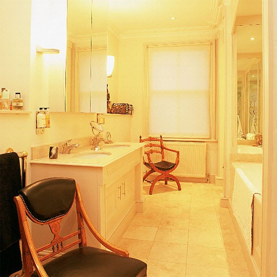 Small traditional bathroom | Bathroom idea | Leather chairs | Image | Housetohome.co.uk