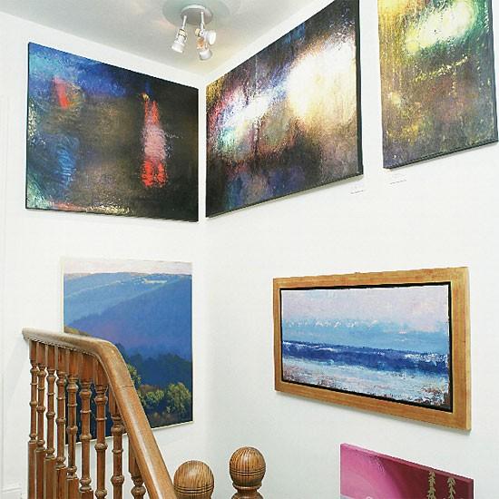 Art Covered Hallway | Hallway furniture | Decorating ideas | Image | Housetohome