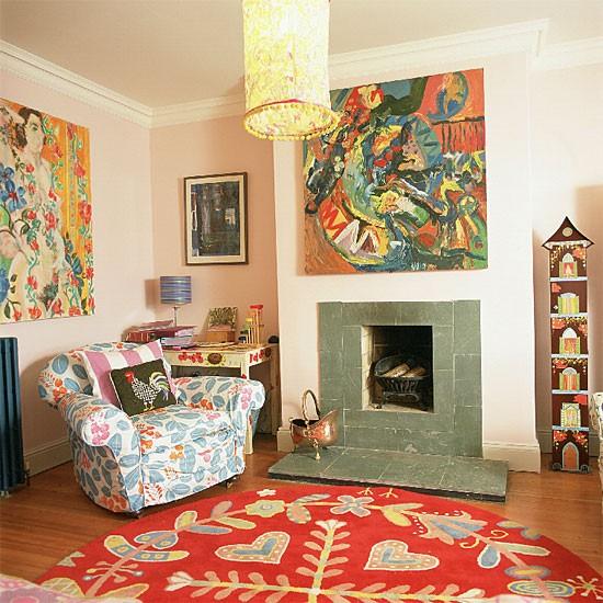 Colourful living room | Decorating ideas | Image | Housetohome.co.uk