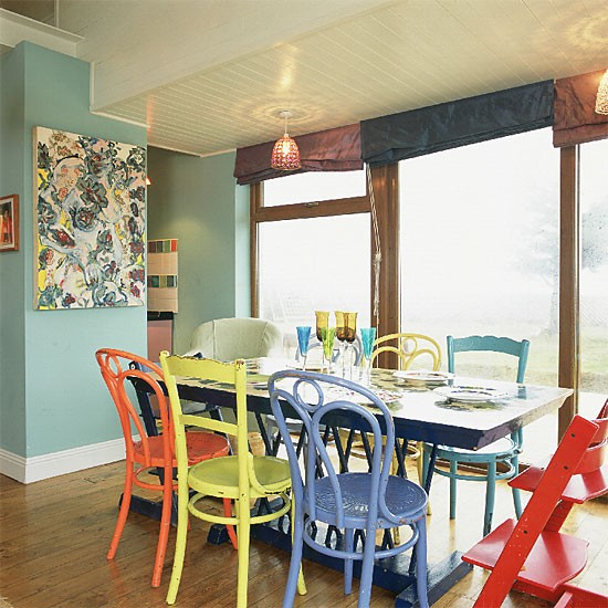 Colourful dining room   Dining room furniture   Decorating ideas   Image   Housetohome