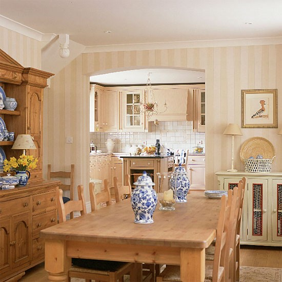 Neutral open plan dining room | Dining room furniture | Decorating ideas | Image | Housetohome