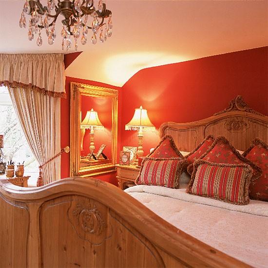 Red Baroque Bedroom