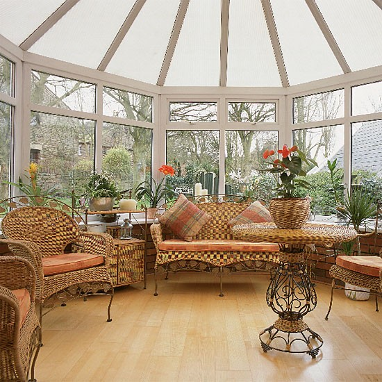 Wooden Conservatory With Natural Materials