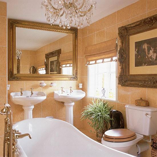 Gold Baroque bathroom | Bathroom idea | Ceramic tiles | Image | Housetohome.co.uk