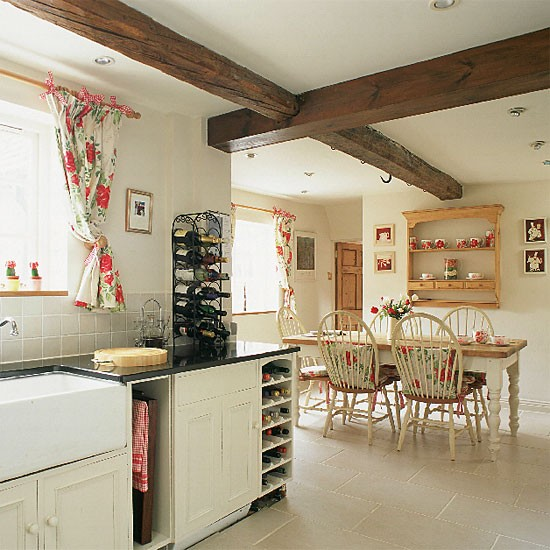 Farmhouse style kitchen diner dining room furniture - Dimity farrow and ball living room ...