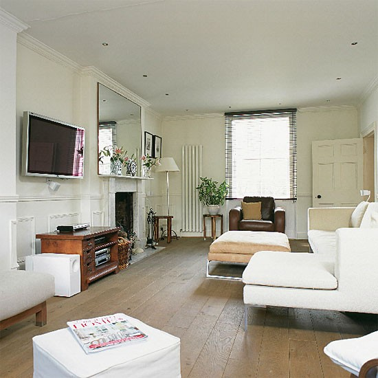 Contemporary neutral living room | Decorating ideas | Image | Housetohoe.co.uk