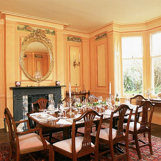 Formal victorian dining room dining room furniture for Dining room designs uk