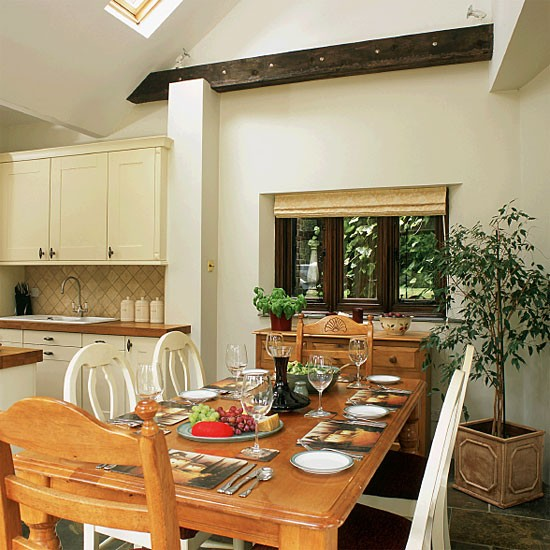 Open-plan country dining room | Dining room furniture | Decorating ideas | Image | Housetohome