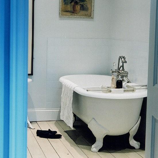 Simple bathroom | Bathroom idea | Freestanding bath | Image | Housetohome.co.uk