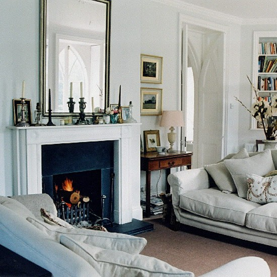 White georgian style living room for Georgian living room ideas