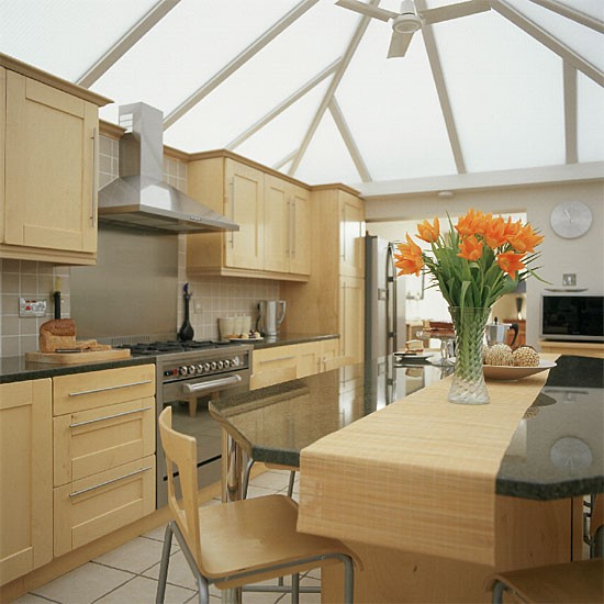 modern conservatory kitchen diner kitchen design