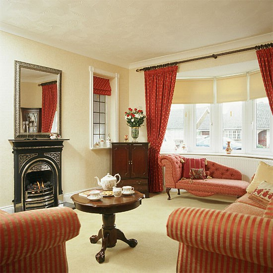 Living room ideas red and cream online information for Cream living room designs