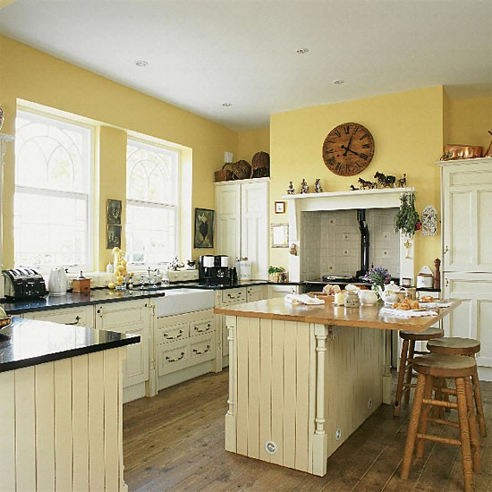 yellow country kitchen kitchen design decorating ideas image