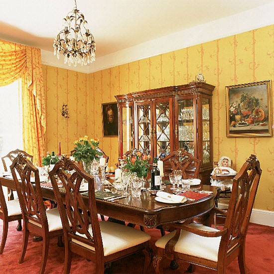 Yellow formal dining room | Dining room furniture | Design ideas | Image | Housetohome