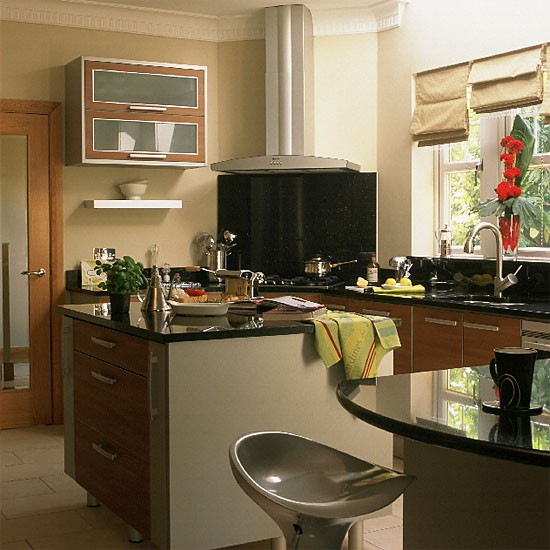 Walnut and steel kitchen | Contemporary style | Design ideas | Image | Housetohome