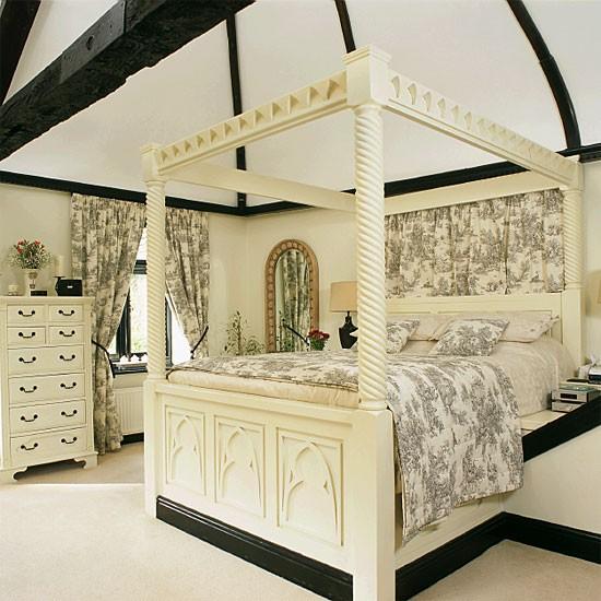 Monochrome Period Bedroom