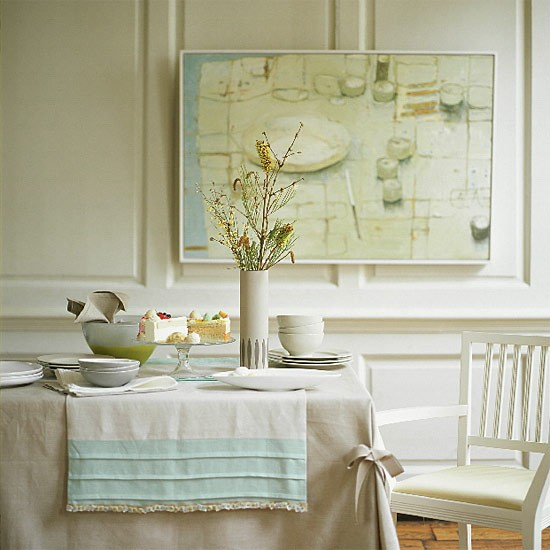 White dining room | Dining room furniture | Decorating ideas | Image | Housetohome