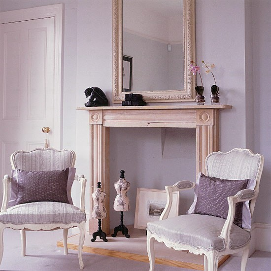 French style bedroom fireplace lilac bedroom for Bedroom ideas lilac