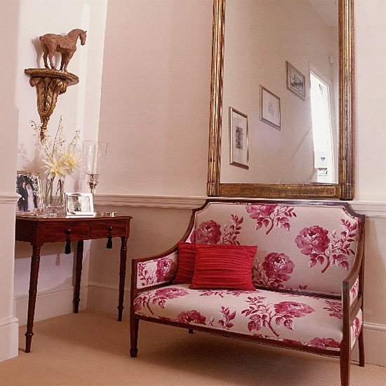 Landing with traditional seating area | Hallway furniture | Decorating ideas | Image | Housetohome.co.uk