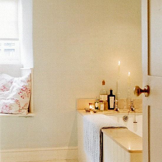 Yellow contemporary bathroom   Bathroom vanities   Decorating ideas   Image   Housetohome.co.uk