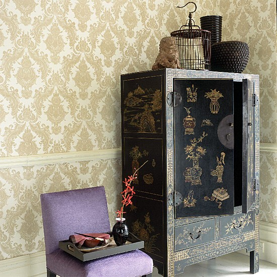 Living room with oriental cabinet   Dining room furniture   Decorating ideas   Image   Housetohome.co.uk
