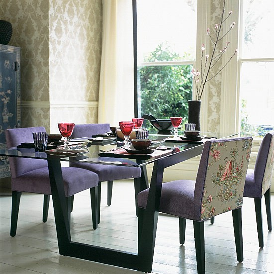 Oriental-style dining room | Contemporary style | Dining room furniture | Living room | Image | Housetohome.co.uk