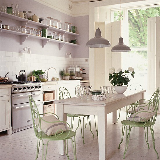 Vintage French Kitchen: French-style Kitchen/diner