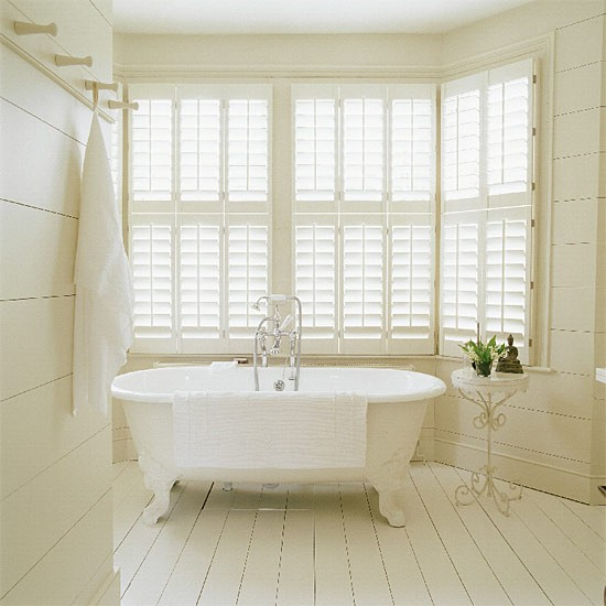 Classic white bathroom | Bathroom idea | Shutters | Image | Housetohome.co.uk