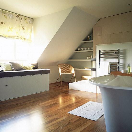 Modern Bathroom With Wood Flooring Bathroom Vanities