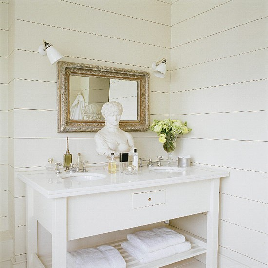 White bathroom | Bathroom idea | Basin | Image | Housetohome.co.uk