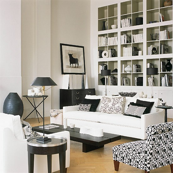 Contemporary living room | Monochrome | Image | Housetohome.co.uk