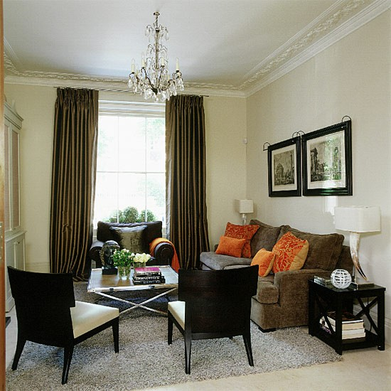 Cream and brown living room | Decorating ideas | Image | Housetohome.co.uk