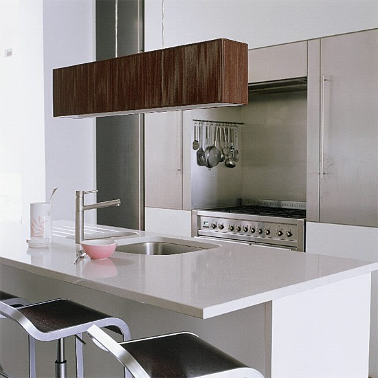 Contemporary steel kitchen | Kitchen design | Decorating ideas | Image | Housetohome