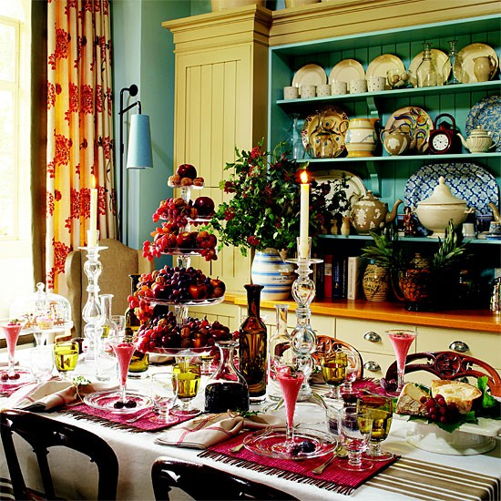 Colourful country dining room | Dining room furniture | Decorating ideas | Image | Housetohome