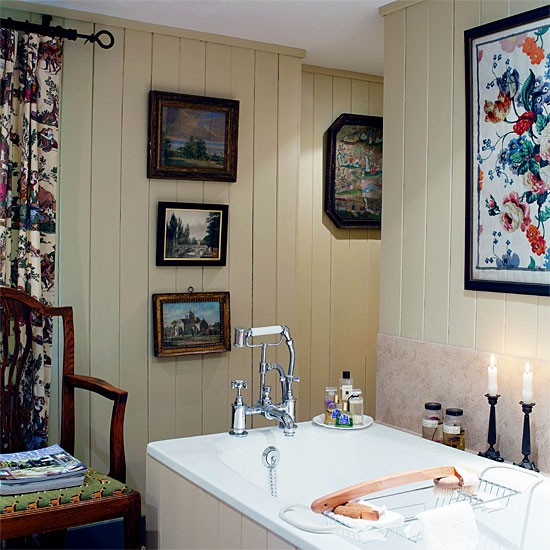 Tongue-and-groove bathroom | Bathroom idea | Chair | Image | Housetohome.co.uk