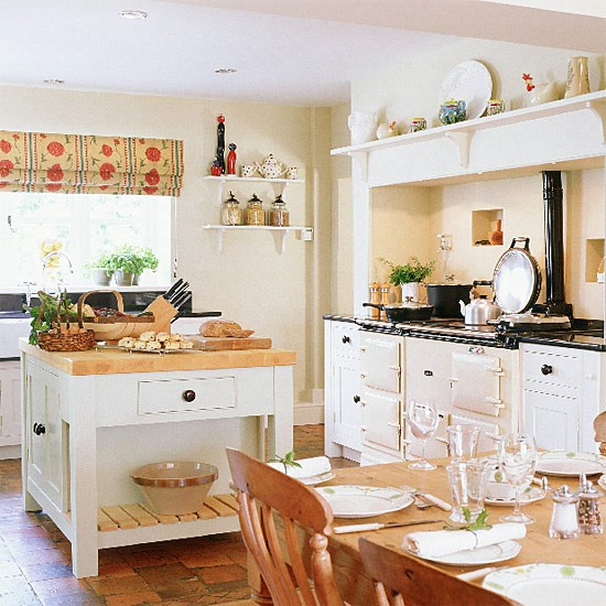 Country kitchen kitchen design decorating ideas for Country kitchen floor ideas